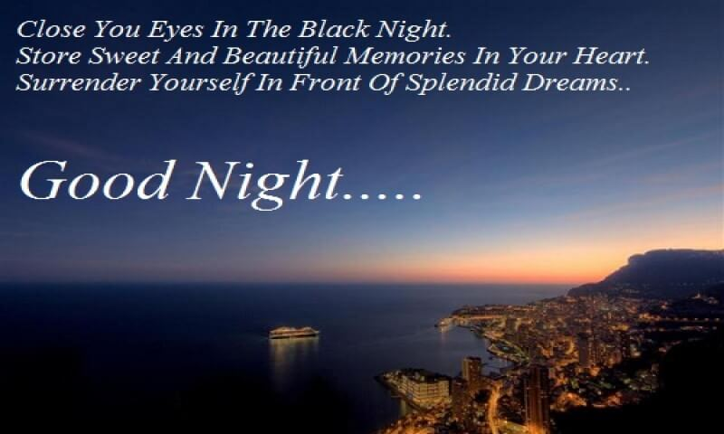 Good Night Quotes For Friends Messages and Wishes