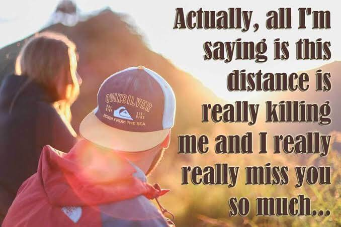 Love distance messages and Long Distance